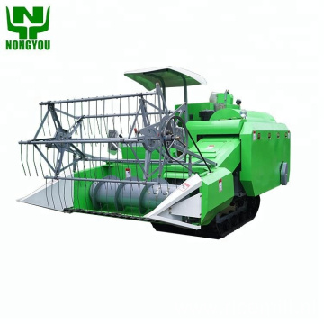 Mini combine grain harvester