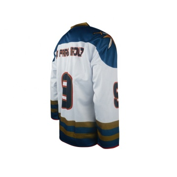 Wholesale custom 100%polyester ice hockey jersey with lace