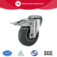 3.5'' Hollow Rivet Swivel Gray Rubber PP Core Wi Industrial Caster