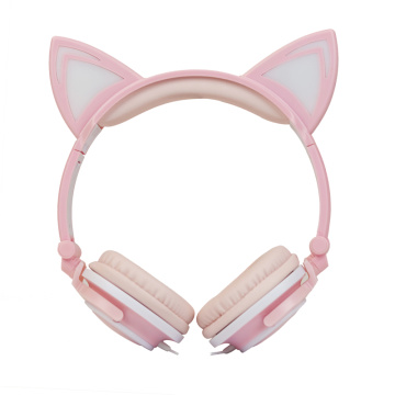 Stereo cat ear headphones headset macoron headphone