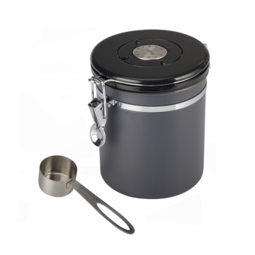Grey airtight Coffee Canister With Date Dial Lid