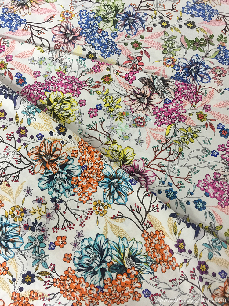 Rayon Poplin shuttle 45S Light Printing Fabric