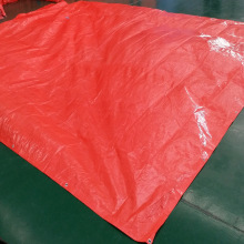 Durable Orange Tarpaulin Curtain