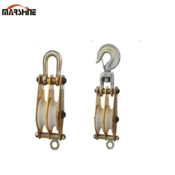 Double Sheave Hoisting Tackle Pulley Block