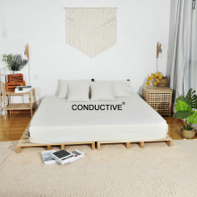 Conductive Organic Cotton Fabric Earth Bed fitted Sheet
