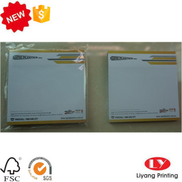 Tear off sticky students notepads plastic bag