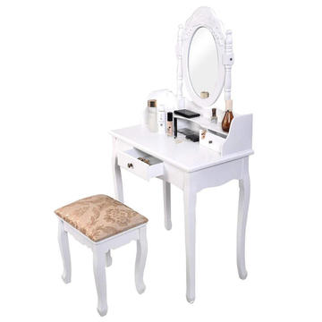 High Quality Vanity Jewelry bedroom Makeup Dressing Table, White