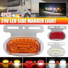 4/8/12x 44LED Truck Side Marker Repeater Ligh for SUV Trailers Lorry RV Bus Boatt 24V Turn Signal Light Lamp with Puddle Light