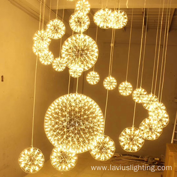 Modern dining room round big pendant light chandelier