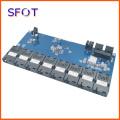 PCBA Switch board, Single Mode Single Fiber, 8-port 100M 1*9 Module with 2 port 10/100/1000M RJ45 Ethernet Network Switch