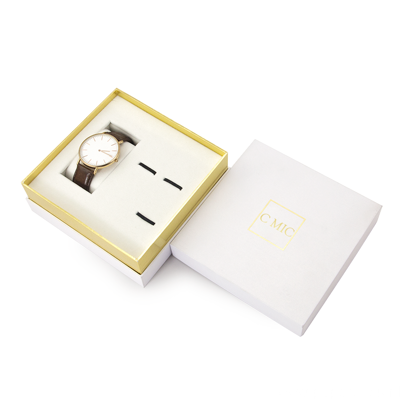 Customized Cardboard Watch Gift Box With Inserts Packaging