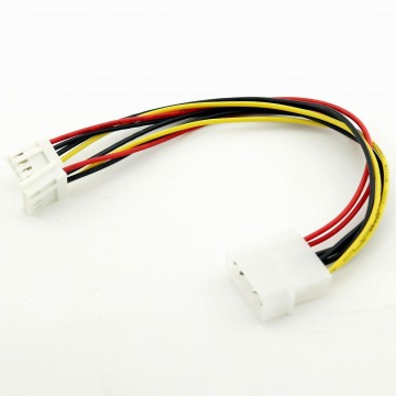 5pcs 4 Pin Molex to Dual 4 Pin Floppy PC Power Y Splitter Adapter Connector Cable for Floppy Drive FDD 20cm