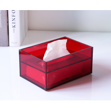 Rectangular Colorful Acrylic Tissue Box