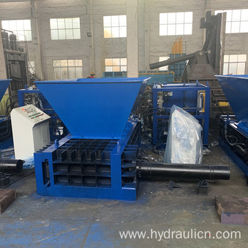 Hopper style automatic light metal Can baler Machine
