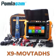 """X9ADHS X9MOVTADHS 8""""touch screen IP camera tester for IP TVI CVI AHD SDI 4K H.265 camera testing PTZ controller with TDR, Cable"""