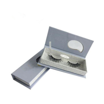 PVC Window Design White Glitter Eyelash Box