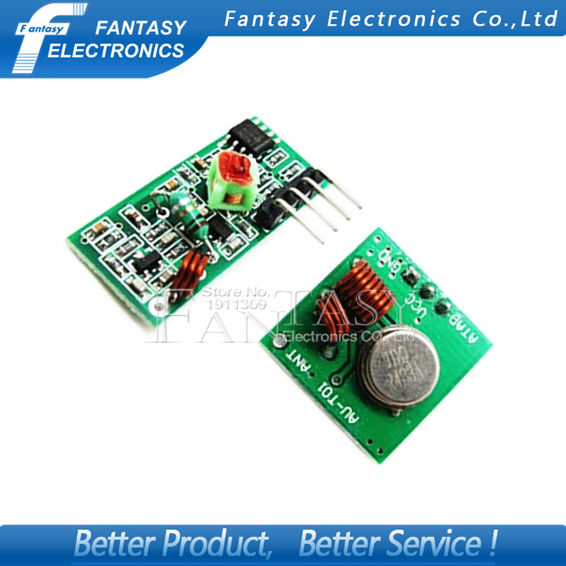 1Lot= 5 pair (10pcs) 433Mhz RF transmitter and receiver Module link kit for ARM/MCU WL diy 433mhz wireless free shiping