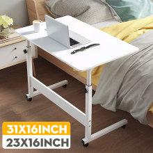 Laptop Cart Rolling Desk Mobile Stand Portable Caster Cart Bed Side Overbed Table Workstation Computer Desk with Lockable Caster