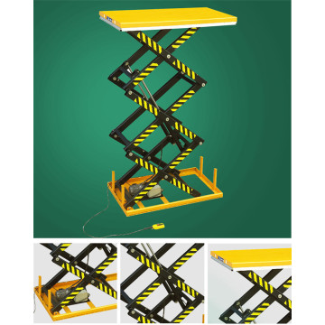 small electric hydraulic mini scissor lift table