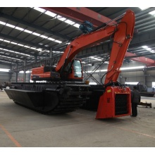 High-efficiency land-water amphibous excavator sale