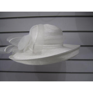 Ladies' Poly Braid Up Brim Church Hats