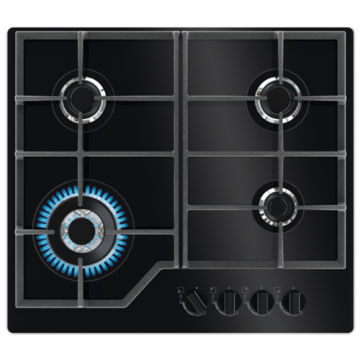 Glass Top Zanussi Hob 4 Burner