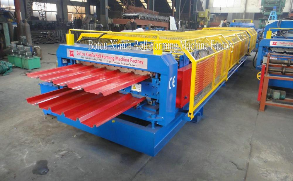 Color Steel Roof Panel Double Deck Machine