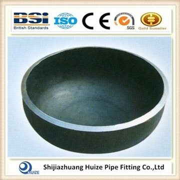 Butt welded pipe fitting end cap