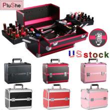 Aluminum Alloy Makeup Jewelry Organizer Storage Manicure Box Cosmetic Suitcase