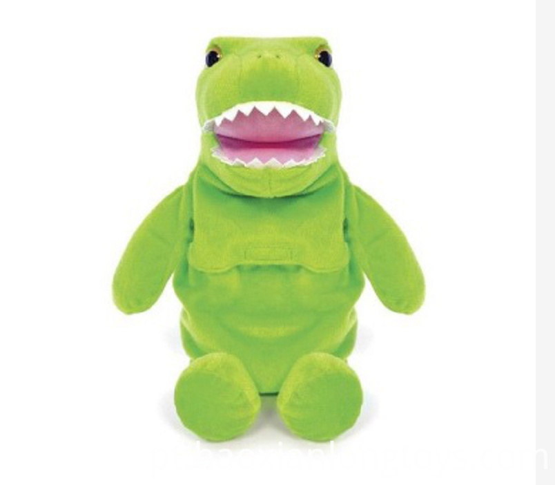 Green Dinosaur Doll Pillow