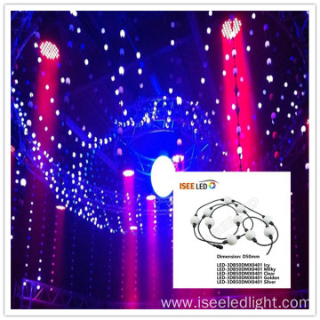 Waterproof 50mm 360degree digital dmx led ball