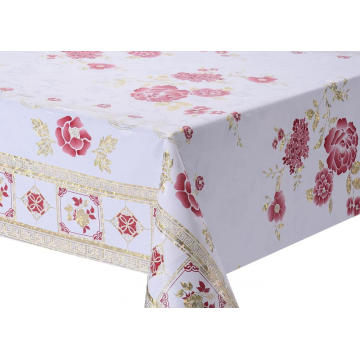 Transfer Printing Tablecloth with Gold