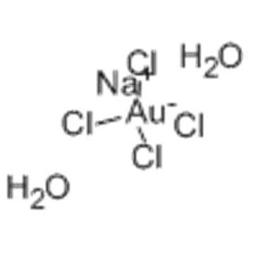 Aurate(1-),tetrachloro-, sodium, dihydrate,( 57373028, 57195643,SP-4-1)- (9CI) CAS 13874-02-7