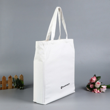 Leather Handle Canvas Bag