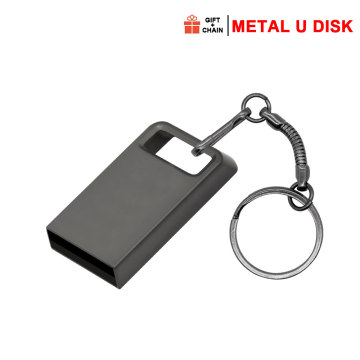 Mini Metal USB Memory Stick With Keychain