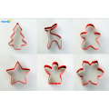 Color Coated Christmas Cookie Cutter Set 6pcs