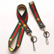 2.5cm width wholesale 5pcs a lot Stripe Neck Lanyards and wrist strap Keychain for phones