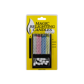 10 Pieces Colorful Birthday Magic Relighting Candles