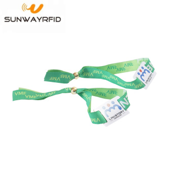 RFID Woven Fabric Wrist Wristbands with NTAG216