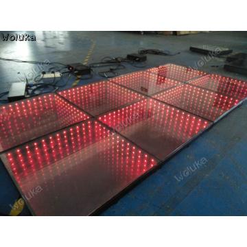 2pcs 1*1 m mouth shape infinite mirror abyss floor tile mirror bar disco runway corridor tunnel effect CD50 W03