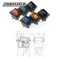 KCD4 20A/250V 4 Pin DPST IP67 Sealed Waterproof Rocker Switch with LED 12V 24V 110V 220V 30x22