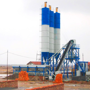 HZS60 automatic stationary concrete batching plant Pakistan