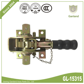 Truck Trailer Side Curtain Tensioner With Security Pin
