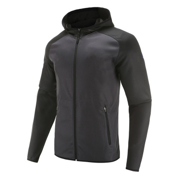 Mens Soccer Wear Zip Up Coat Black