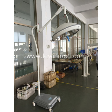 Mobile operating lamp with battery floor type