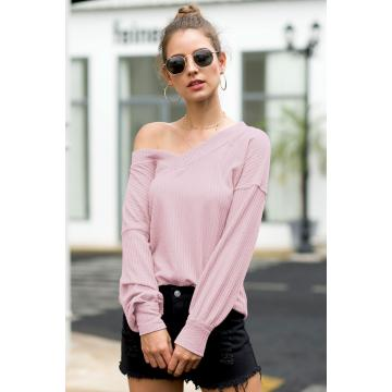 Hot Sale Off-the-Shoulder Lantern Sleeves T-shirt tops