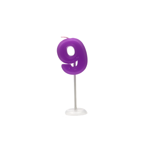 Gold and sliver birthday number candle for party