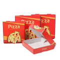 custom printed corrugated pizza box for food packaging