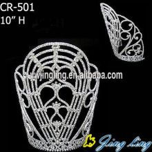 Larger Crystal Rhinestone Pageant Crowns Tiaras  CR-501
