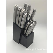 15pcs stainless steel handle knife set